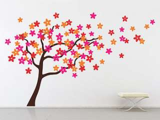 flower tree wall stickers by the binary box