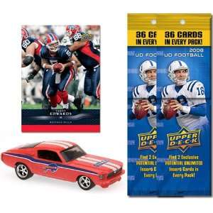 NFL 1967 Ford Mustang Fastback w/ Trading Card & 2 2008 Fat Packs