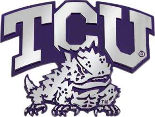 TCU Horned Frogs Ultra Premium Metal Car Emblem