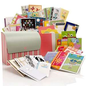 45 piece Handcrafted Greeting Card Set In A Bread Box