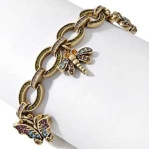 Heidi Daus Secret Garden Crystal Accented Charm Bracelet