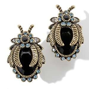 Heidi Daus Beetle Mania Crystal Accented Earrings