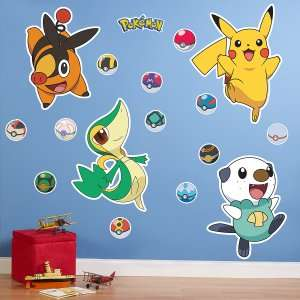 Pokemon Black and White Giant Wall Decals, 76461
