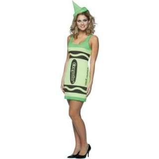 Crayola Screamin Green Crayon Tank Dress Adult Costume, 68726