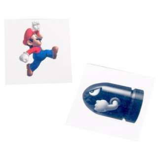Halloween Costumes Super Mario Bros. Tattoos Assorted (8 count)