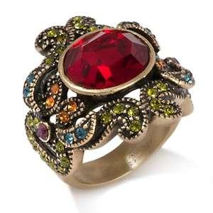 Heidi Daus Georgian Lace Crystal Accented Ring