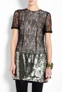 By Malene Birger  Black Avalon Beauty Report Lace & Sequin Dress by