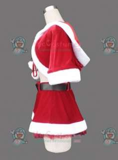 Red three pieces women Christmas cosplay costume