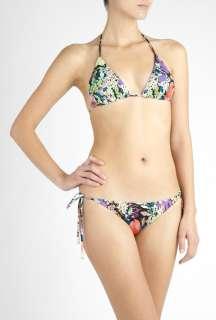 Diane Von Furstenberg  Winter Garden Print String Bikini Top by Diane