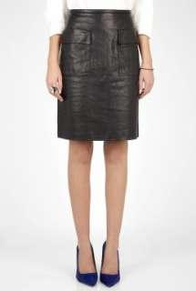 Phillip Lim  Black Leather Patch Pocket Skirt by 3.1 Phillip Lim
