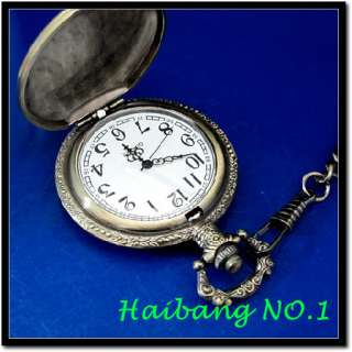 New Motorcycle logo embossed Case Mens Pocket Watch