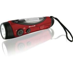 NOAA Weather Band and AM/FM Radio with Flashlight/Lantern   Red/Black
