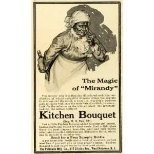 1913 Ad Mirandy Black Americana Kitchen Bouquet Condiments