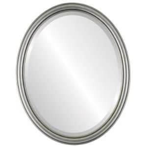 in Silver Leaf with Black Antique Mirror and Frame