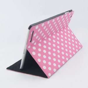 com Fashion Polka Dot Smart Leather Case Cover Skin Stand For iPad 2