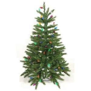 3 Pre Lit Fir Artificial Christmas Tree   100 Multi