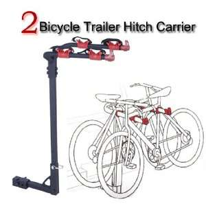 NEW 2 BIKE HITCH MOUNTED CARRIER RACK CAR TRUCK BICYCLE