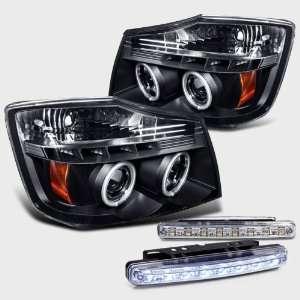 Projector Head Lights+led Fog Bumper Lamp Pair New Set Automotive