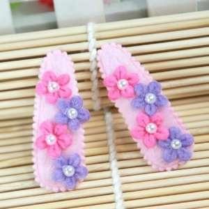 Pink / Baby /Newborn/ Toddler/ Girls Flower Blossom Hair Clip (4109 1