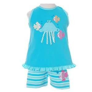 Infant Toddler Girls Turquoise Outfit Set Molly & Millie 12M 4T: Baby