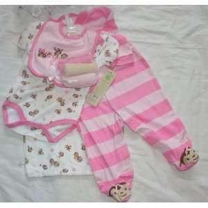 Sandy & Simon Baby/Infant Girls 8 Piece Layette Set   Size 3 6