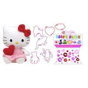 Ty Beanie Baby Hello Kitty w/ Red Heart & 12 Bandz love