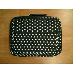Computer Laptop Bag   Black/White Dot