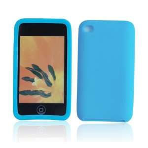 Silicone Case Cover for Apple iPod Touch 4 Light Blue J12
