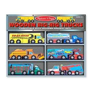 Wooden Vehicle Set Big Rig Trucks Office Products