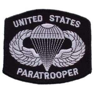 Army Paratrooper Logo Patch Black & White 3 Patio, Lawn & Garden