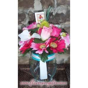 Flower Pens Pretty Pink Mix Flower Pen Bouquet