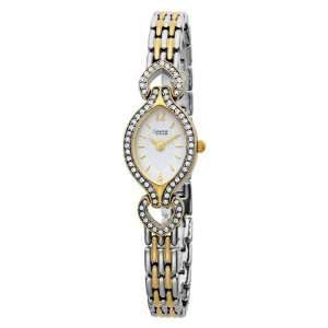 45L96 Swarovski Crystal Accented White Dial Watch Bulova Watches