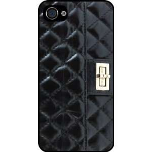 Quilted Black Clasp image Rubber Black iphone Case (with bumper) Cover
