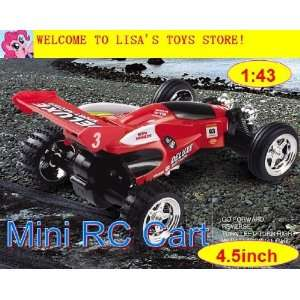 whole 143 remote control toy car rc cart 4.5 inch lights