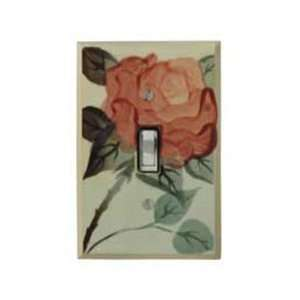 Antique Rose Ceramic Switch Plate / 1 Toggle