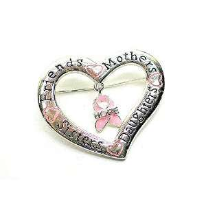 Breast Cancer Awareness Mothers, Sisters, Daughters, Friends Pin