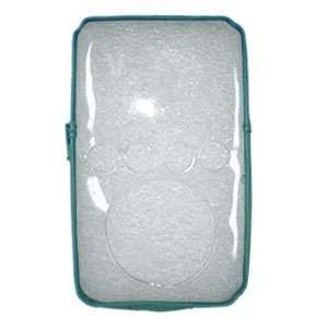 New Amzer Transparent Zipper Case Light Blue For Ipod 3Rd
