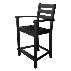 CB Monterey Bay Counter Arm Chair in Charcoal Black TXD201 CB: Patio