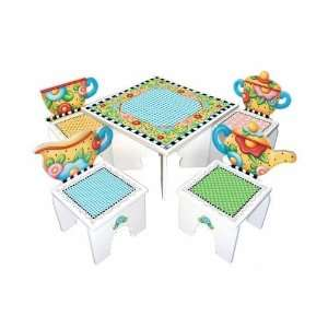 : Mary Engelbreit Tea Time Table & 2 Chairs for Kids: Home & Kitchen