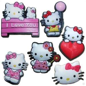 Set of 6   Hello kitty   style your crocs, Fun Clips, Charm 01, Clogs