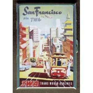 SAN FRANCISCO RETRO POSTER ID CIGARETTE CASE WALLET