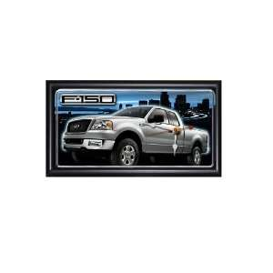 Ford F 150 7X13 Wood Frame Clock: Sports & Outdoors