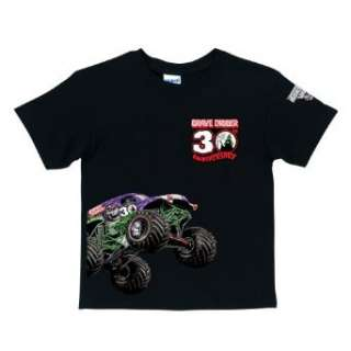 Monster Jam Grave Diggers 30th Anniversary Black T Shirt Clothing