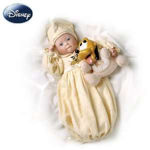 Disney Dreamland Baby Pluto Porcelain Baby Doll Toys & Games