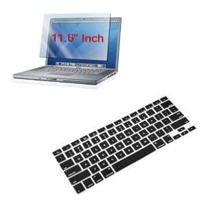 Skque Premium Black Silicone Keyboard Cover + 11.6 inch Clear Screen