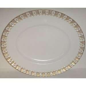 Royal Crown Derby Heraldic Gold Oval Platter 15