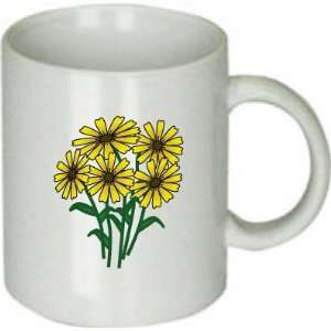 Pretty Yellow Flowers Cup