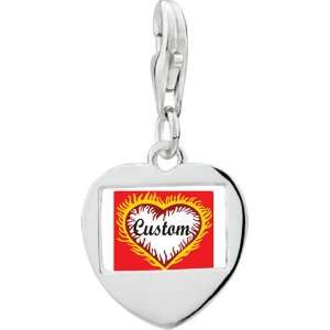 925 Sterling Silver Gold Plated Valentines Day Custom Feathered Heart