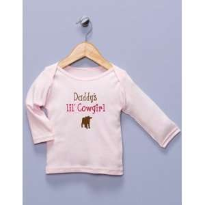 Daddys lil Cowgirl Pink Long Sleeve Shirt Baby