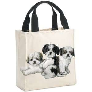 Shih Tzu Puppies (Dog) Canvas Totes: Office Products